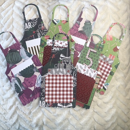 Holiday Apron Gift Card Holder