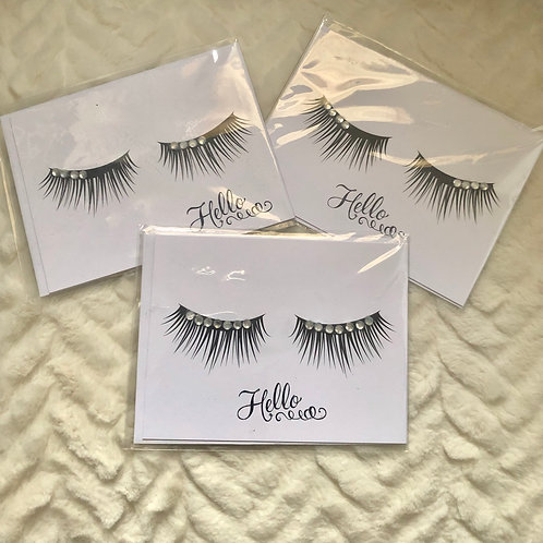 Eyelashes Note Cards