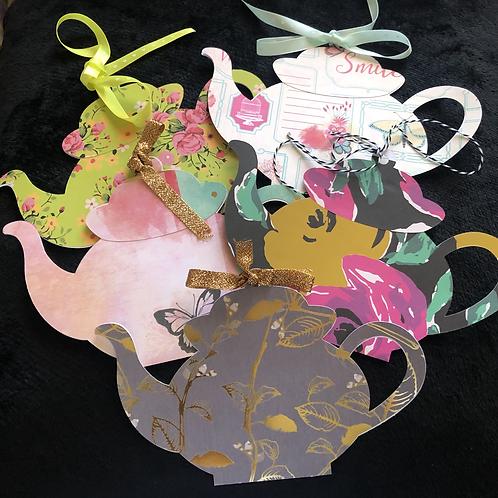 Teapot Gift Card Holder
