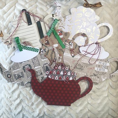 HolidayTea Pot Gift Card Holder