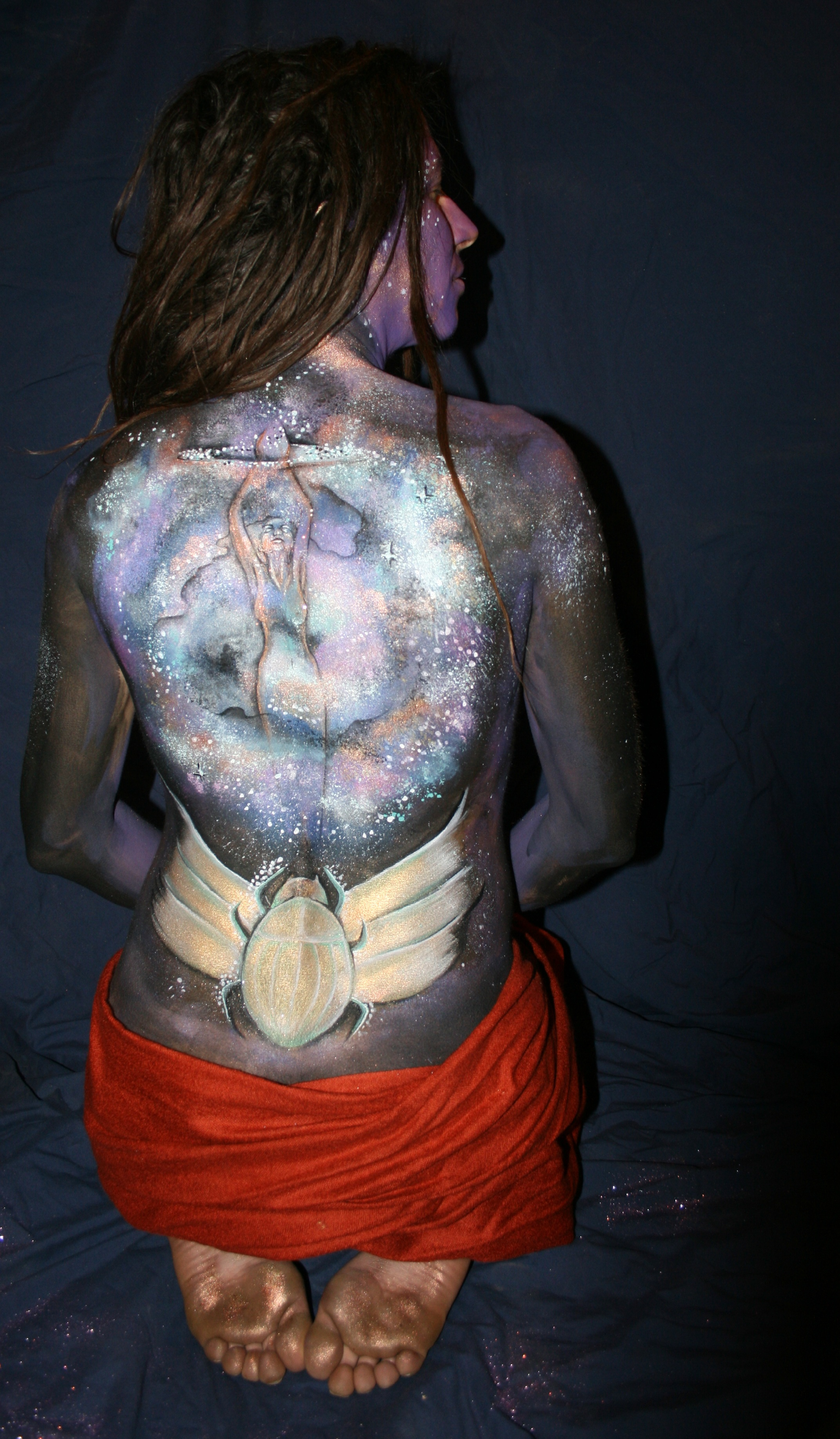 body painting photo shoot