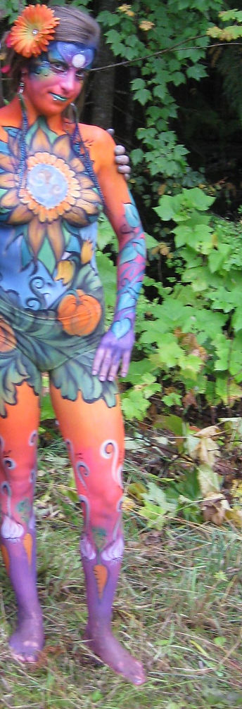 live art body painting by Yvonne Boyd