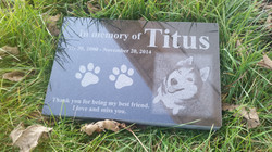 Pet memorial Black granite stone