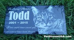 Cat grave stone by PetStonesUSA.com