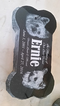 Dog Bone Stone 6x12x2 Black