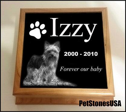 Wood & Granite Pet or Child Urn Personalized FREE