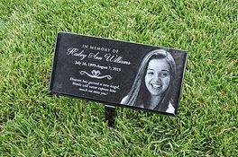 Human grave marker