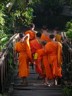 jeunes moines au Laos
