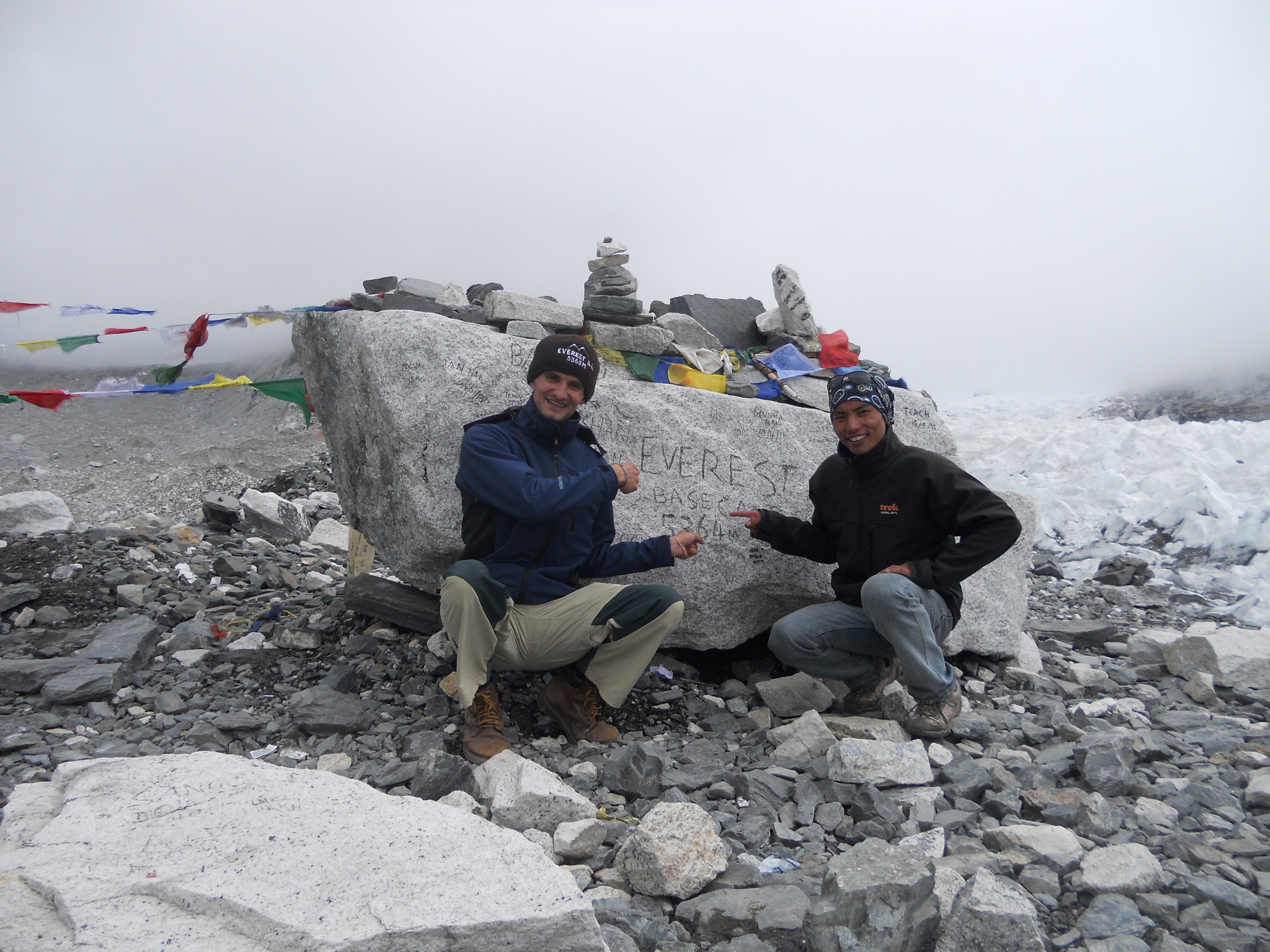 me and my guide,Everest Base Camp
