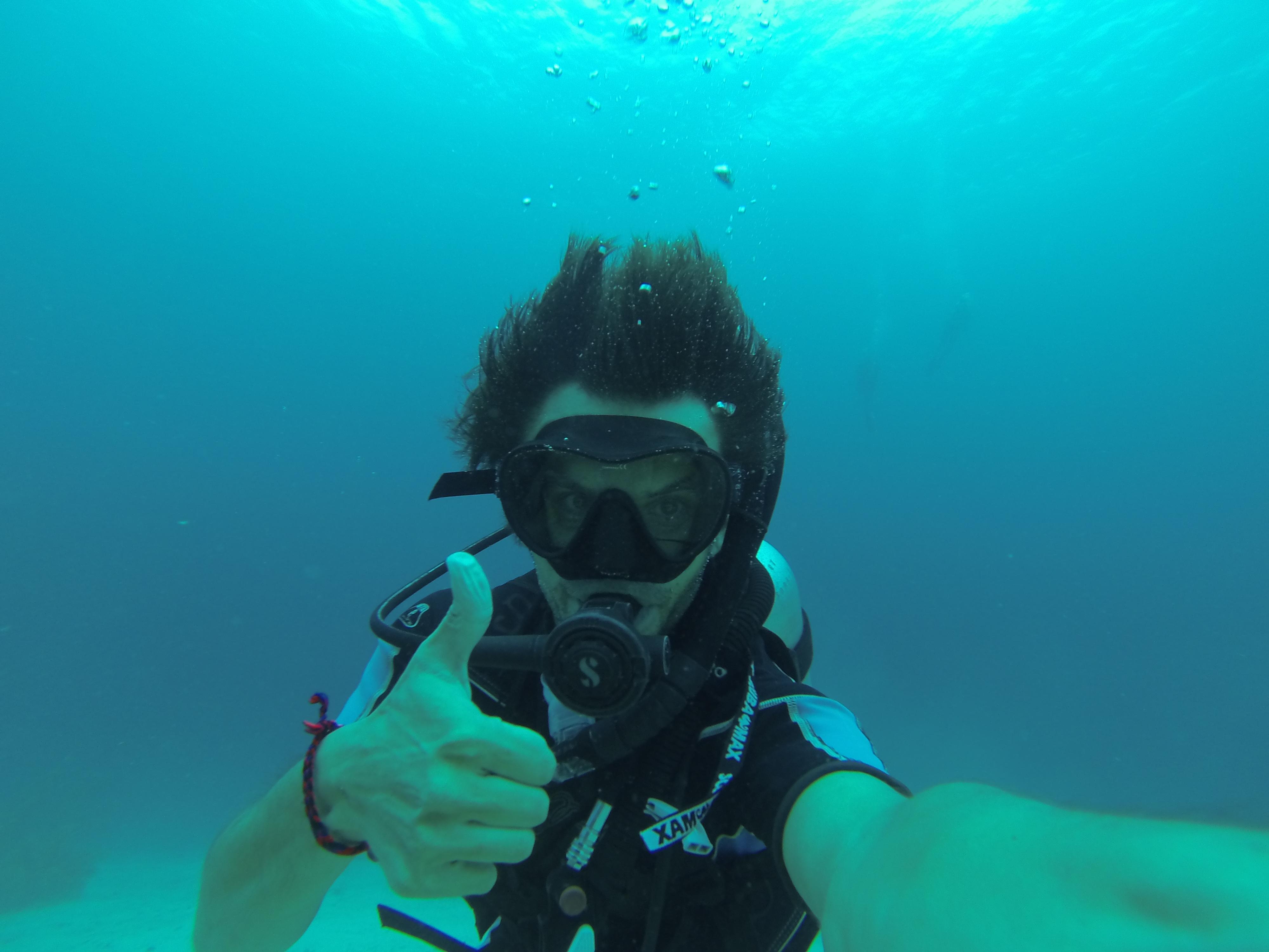 diving in Utila,Honduras
