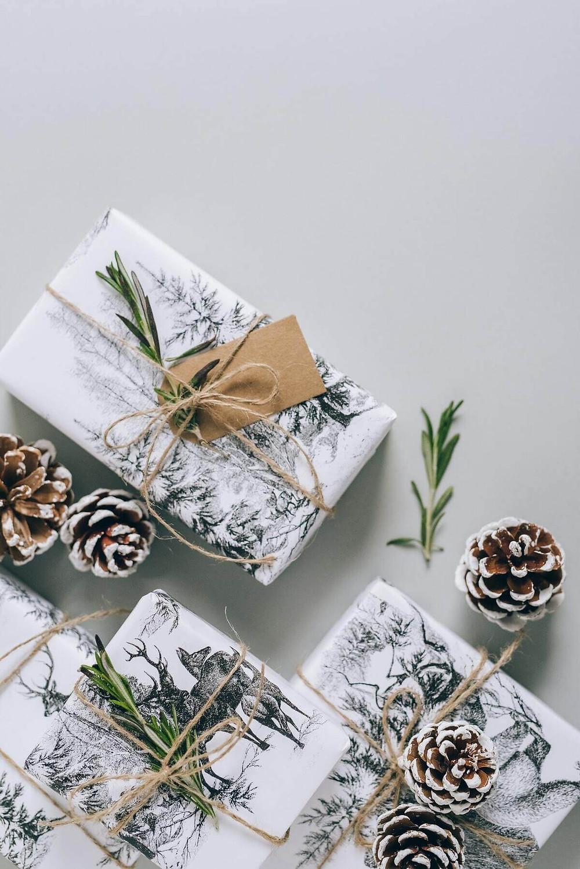 un papier cadeaux décoré