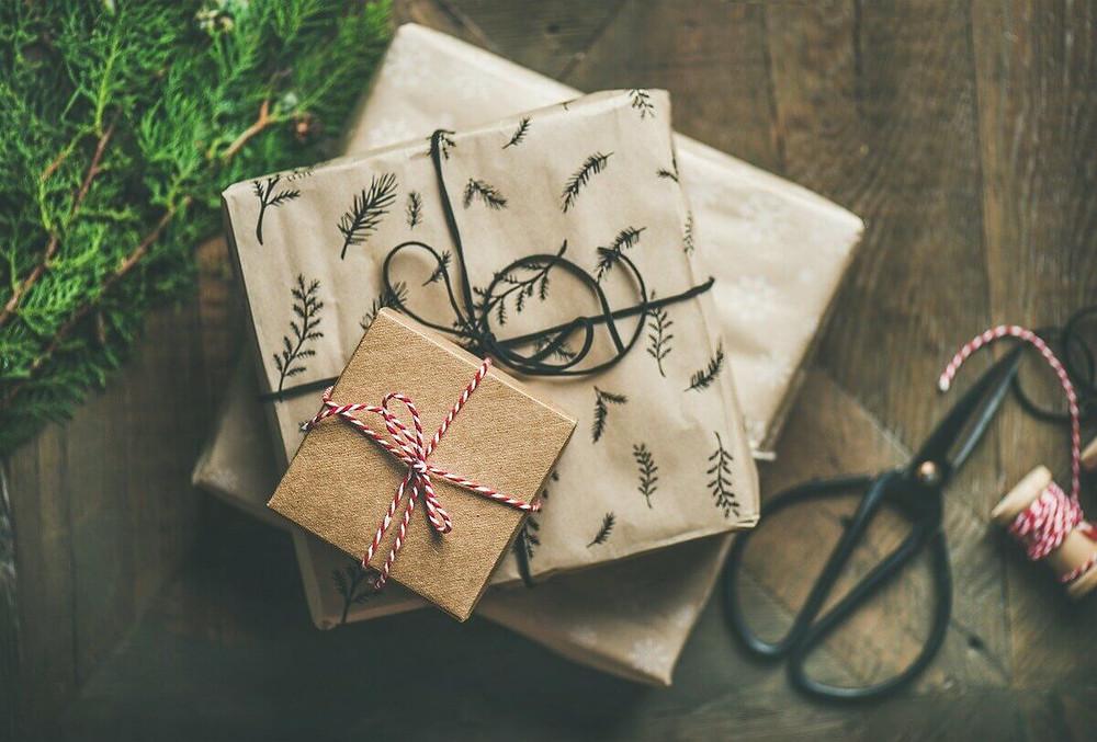 papier cadeau fait maison