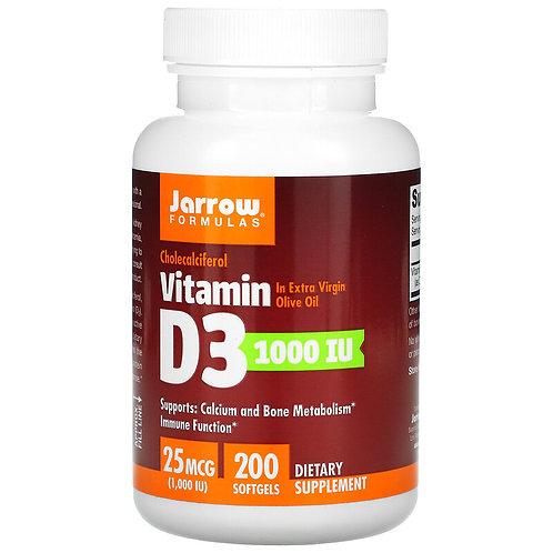 Jarrow Vitamin D3 1000 IU 200 Softgels
