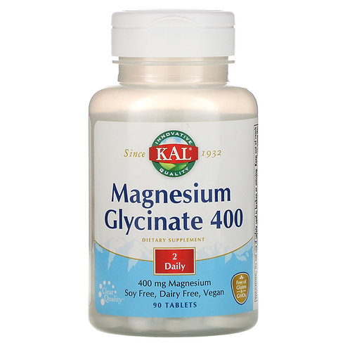 KAL Magnesium Glycenate 400mg 90 Tablets
