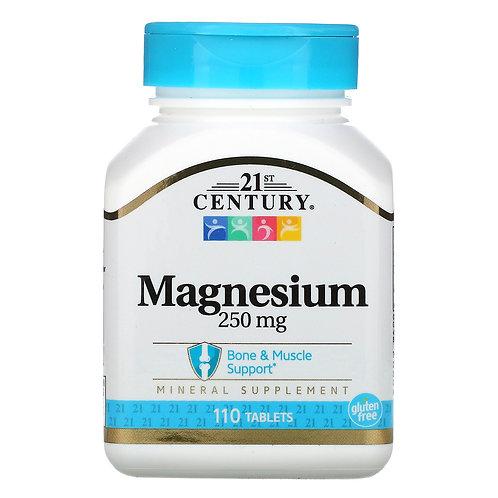 21st Century Magnesium 250mg 110 Tablets