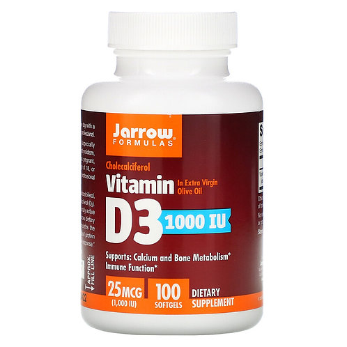 Jarrow Vitamin D3 1000 IU 100 Softgels