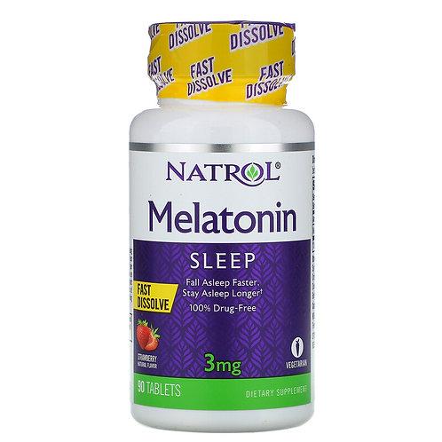 Natrol Melatonin 3mg 90 Tablets Strawberry Flavor
