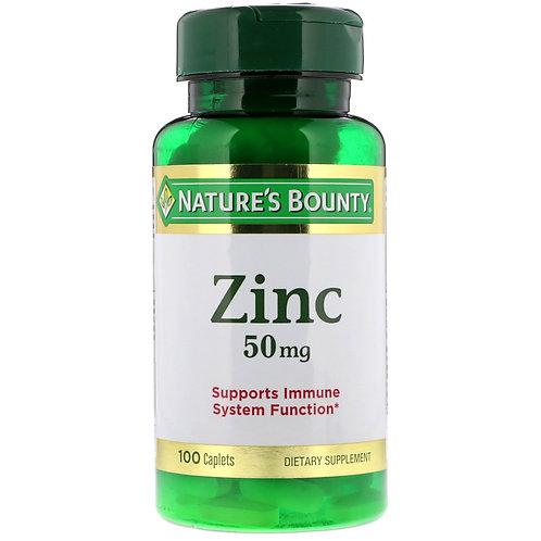 Nature's Bounty Zinc 50mg 100 Caplets