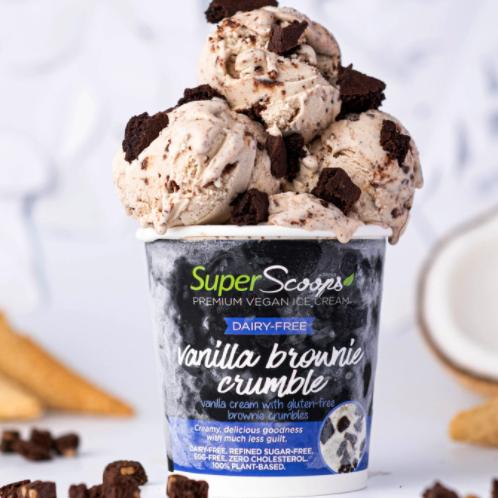 Vanilla Brownie Crumble Vegan ice Cream Pint