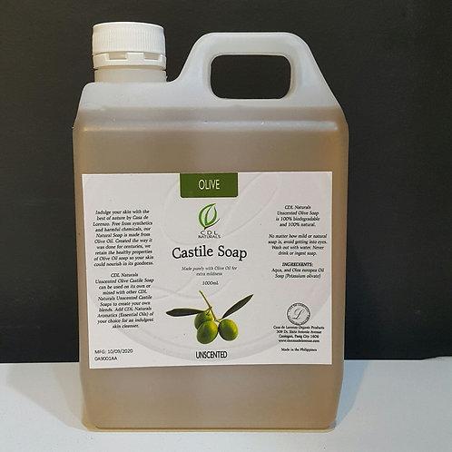 Unscented Olive Castile  Soap 1L