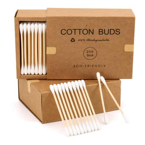 Eco-Friendly Bamboo Cotton Buds 200 Sticks