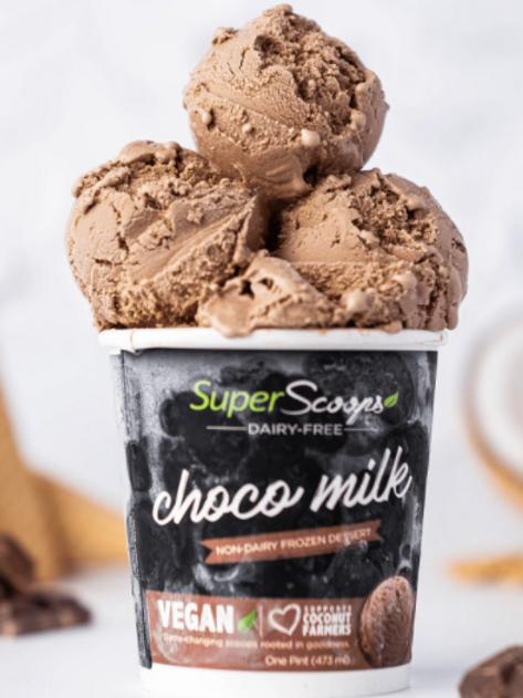 Choco Milk Vegan Ice Cream  Mini Cup