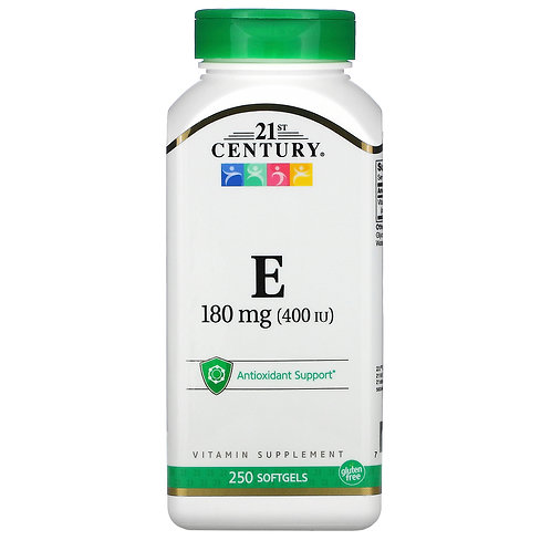 21st Century Vitamin E 400 IU 180mg 250 Softgels