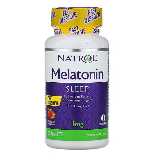 Natrol Melatonin 1mg 90 Tablets Strawberry Flavor