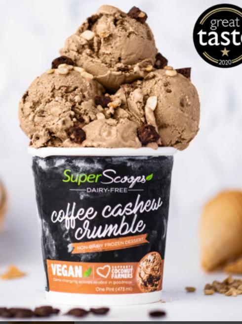 Coffee Cashew Crumble Vegan Ice Cream Mini Cup