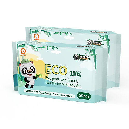 Biodegradable Bamboo Wet Wipes Single Pack