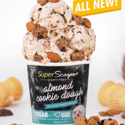 Almond Cookie Dough Vegan Ice Cream Pint