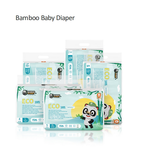Biodegradable Bamboo Baby Diaper Tape Type
