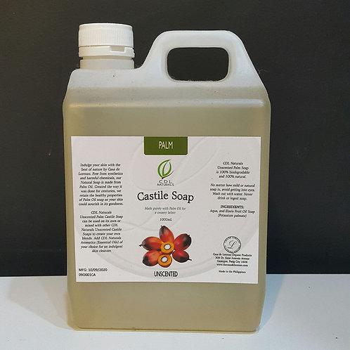 Unscented Palm Castile Soap 1L