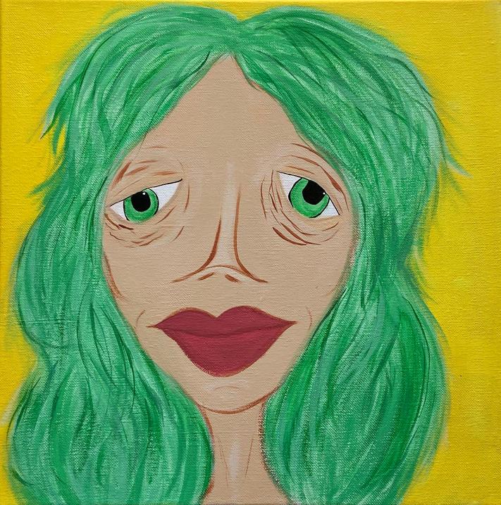 Green Hair. 2020