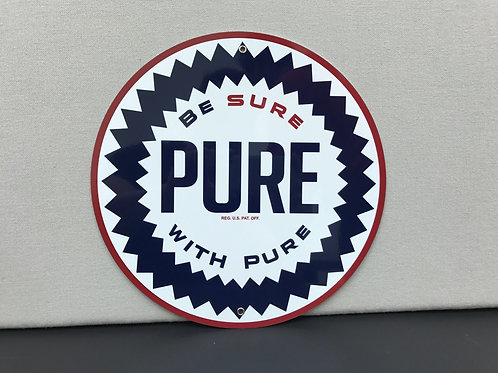 PURE GASOLINE REPRODUCTION SIGN