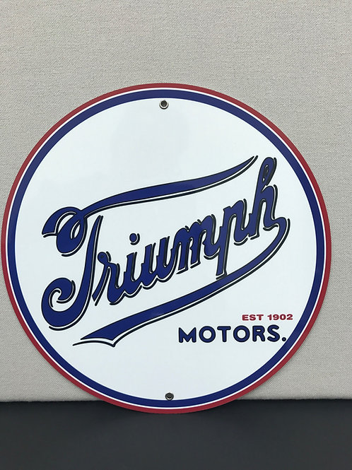 TRIUMPH MOTORS REPRODUCTION SIGN
