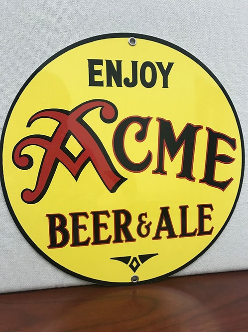 ACME BEER  REPRODUCTION SIGN