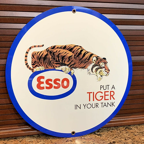 Esso Put A Tiger In Your Tank Vintage Sign
