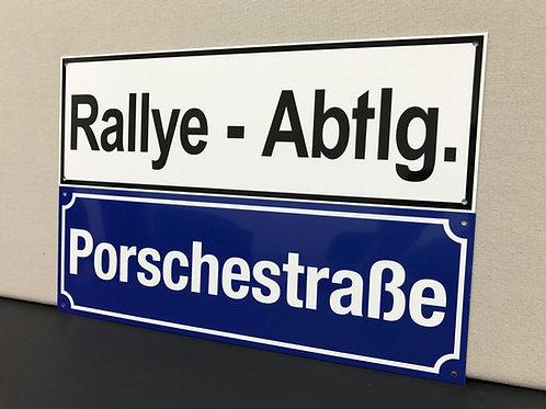 Strasse/Rallye Dept. Street Sign