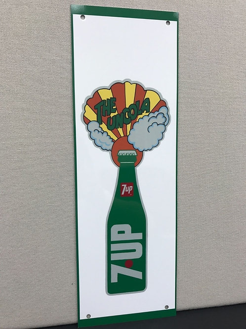 7UP THE UNCOLA BOTTLE  REPRODUCTION SIGN