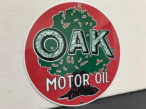OAK MOTOR OIL REPRODUCTION SIGN