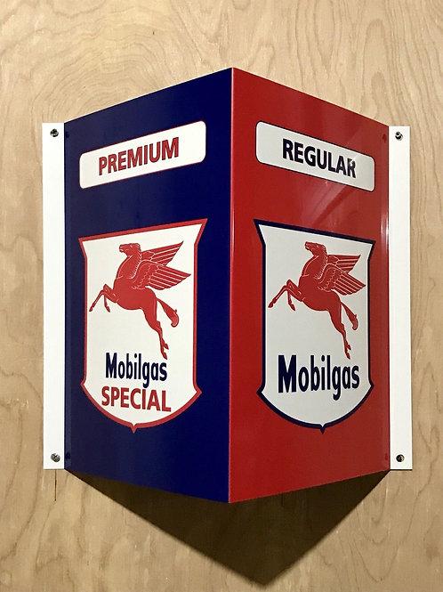 Mobilgas Angle Flange Style Sign