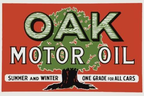 OAK MOTOR OIL LARGE REPRODUCTION SIGN
