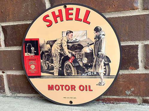 SHELL MOTOR OIL REPRODUCTION SIGN