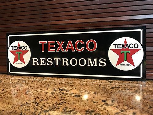 Texaco Restroom Sign
