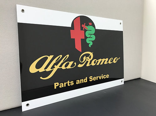 ALFA ROMEO SERVICE REPRODUCTION SIGN