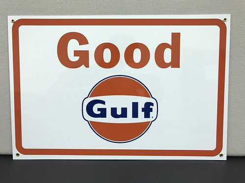 Good Gulf Gasoline Reproduction Sign