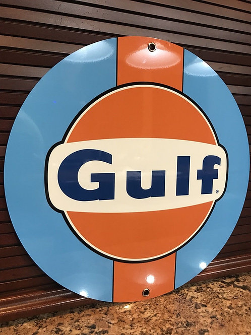GULF RACING ADVERTISING SIGN