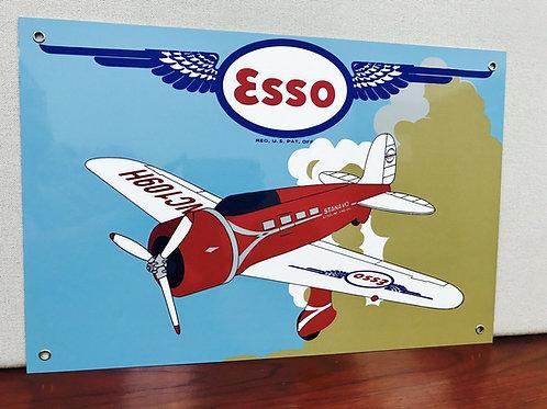 Esso Aviation Oil Vintage Sign