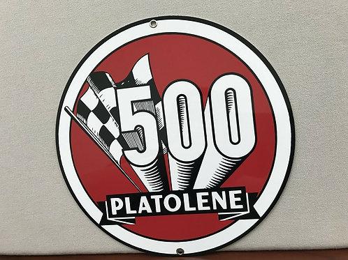 Platolene 500 Gasoline Vintage Sign